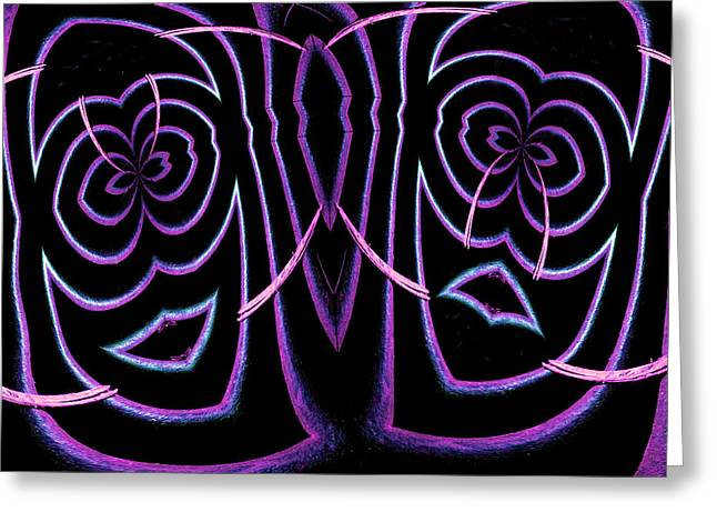 Best Sellers -  - Geometric Digital Art Greeting Cards - Comedy and Tragedy Greeting Card by Paul Wear