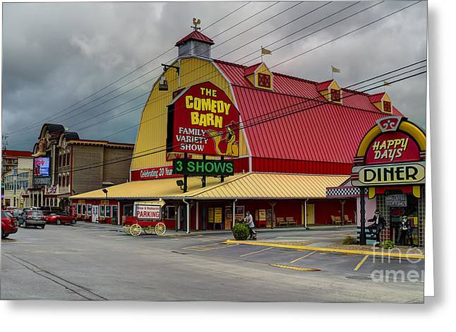 Tennessee Landmark Greeting Cards - Comedy Barn Pigeon Forge Greeting Card by Ules Barnwell