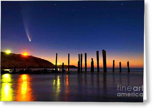 Comet Mcnaughts Greeting Card by Bill  Robinson