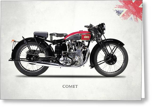 Comet Series A 1937 Greeting Card by Mark Rogan