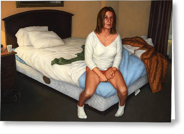 Pillow Greeting Cards - Comfort Inn Greeting Card by James W Johnson