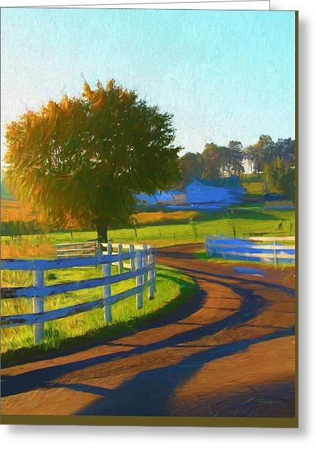 Comfortable Country Morning Greeting Card by Dan Sproul
