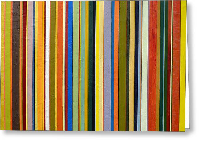 Comfortable Stripes Greeting Card by Michelle Calkins