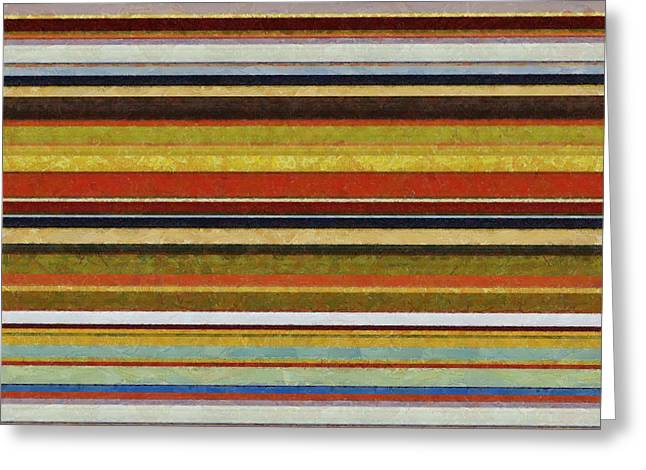 Geometric Design Greeting Cards - Comfortable Stripes Vl Greeting Card by Michelle Calkins