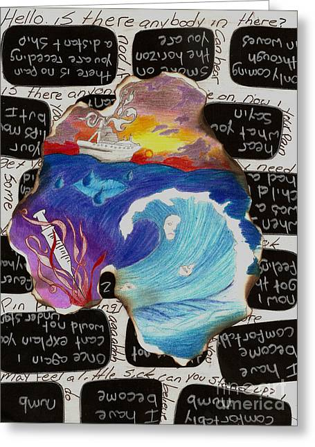 Comfortably Numb Greeting Card by Syvanah  Bennett