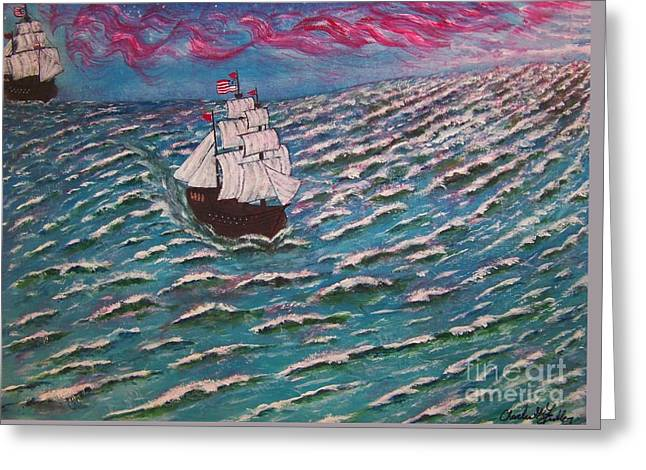 Coming Home Greeting Card by Charles Fuller
