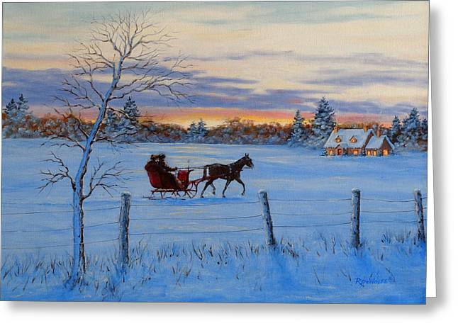 Coming Home Greeting Card by Richard De Wolfe