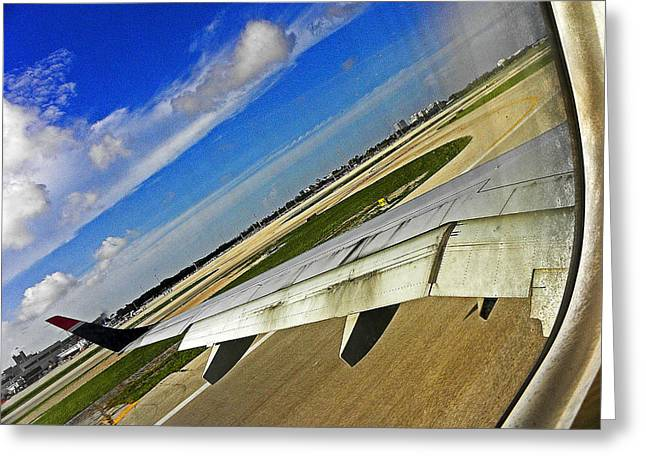 Window Seat Greeting Cards - Coming in for a Landing II Greeting Card by Elizabeth Hoskinson