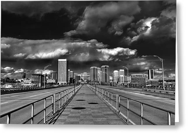 Richmond Va Greeting Cards - Coming in on Manchester Greeting Card by Tim Wilson