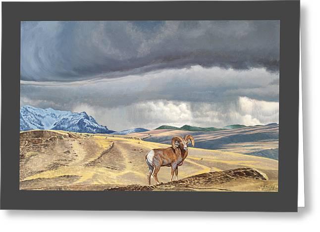 Coming Rainstorm Greeting Card by Paul Krapf