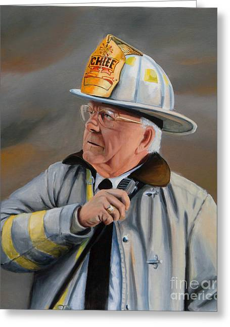 Fire Department Greeting Cards - Command Greeting Card by Paul Walsh