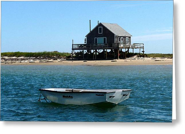 Chatham Greeting Cards - Commuter Dinghy Greeting Card by Heather MacKenzie