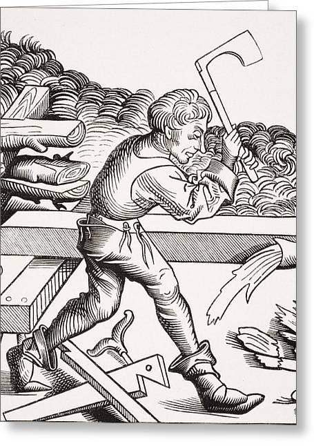 Apparel Greeting Cards - Companion Carpenter. 19th Century Greeting Card by Ken Welsh