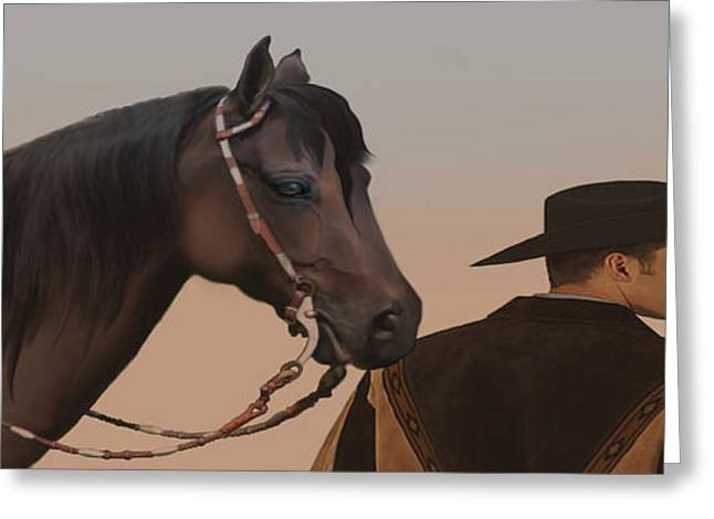 Courage Paintings Greeting Cards - Companions Greeting Card by Corey Ford