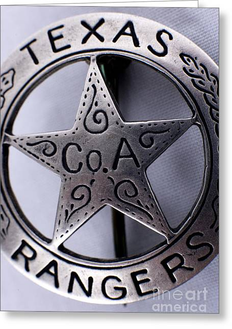 Alan Look Greeting Cards - Company A Texas Ranger Badge 1 Greeting Card by Alan Look