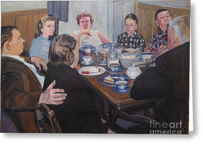 Mealtime Greeting Cards - Company Greeting Card by Deb Putnam