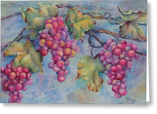 Company Of Grapes Greeting Card by Mary Lillian White