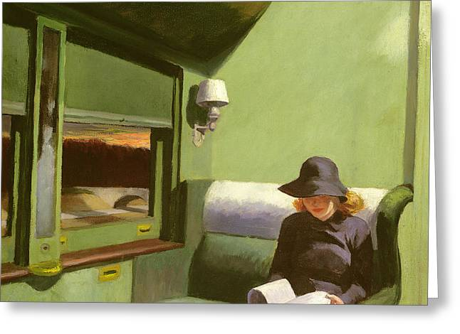 Compartment C Greeting Card by Edward Hopper