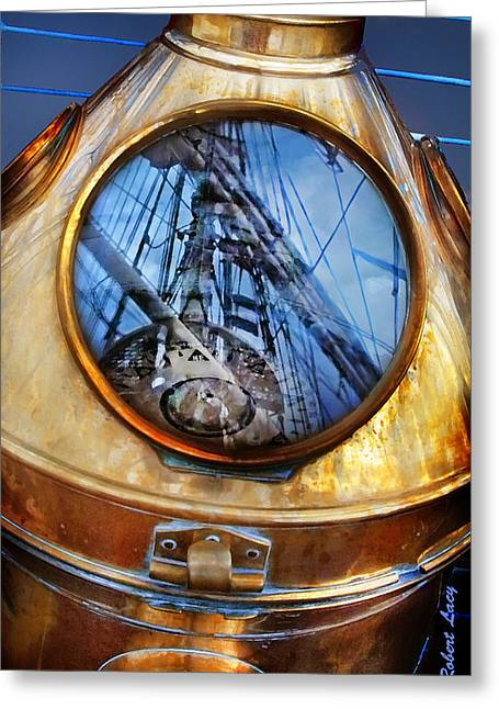 Ships Compass Greeting Cards - Compass Greeting Card by Robert Lacy