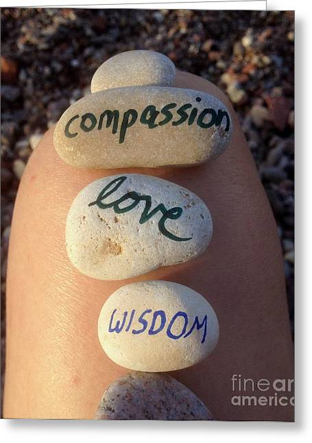 Most Favorite Photographs Greeting Cards - Compassion Love and Wisdom Greeting Card by Noa Yerushalmi