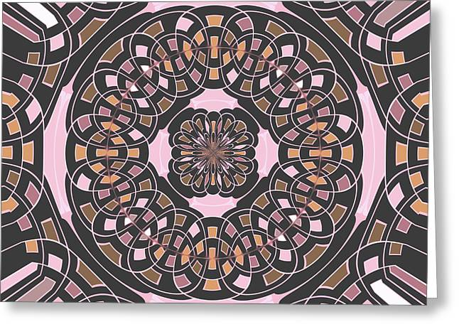 Complex Geometric Abstract Greeting Card by Gaspar Avila