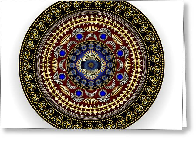 Geometrical Art Greeting Cards - Complexical No 1881 Greeting Card by Alan Bennington