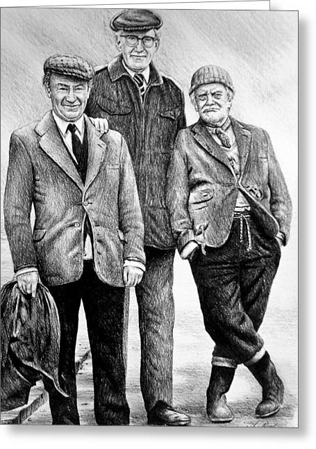 Compo Clegg And Foggy 2 Greeting Card by Andrew Read