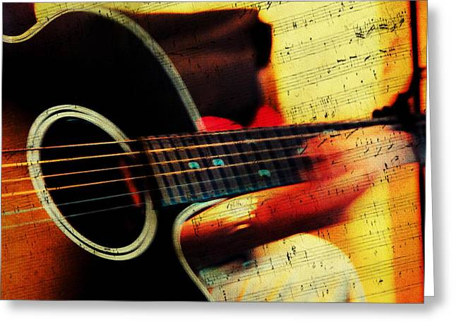 Composing Hallelujah. Music From The Heart  Greeting Card by Jenny Rainbow