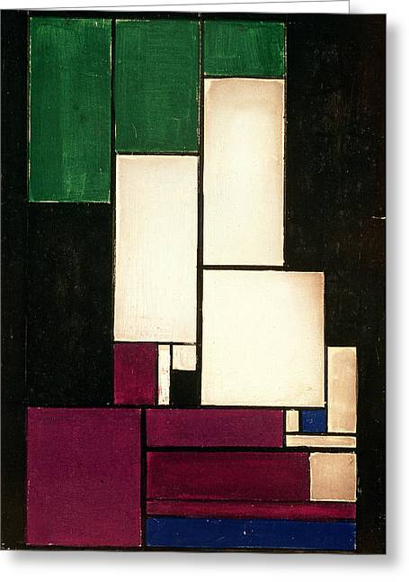 Doesburg; Theo Van (1883-1931) Greeting Cards - Composition Greeting Card by Theo van Doesburg