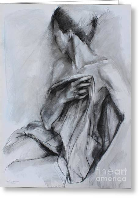 Recently Sold -  - White Drawings Greeting Cards - Concealed Greeting Card by Kristina Laurendi Havens