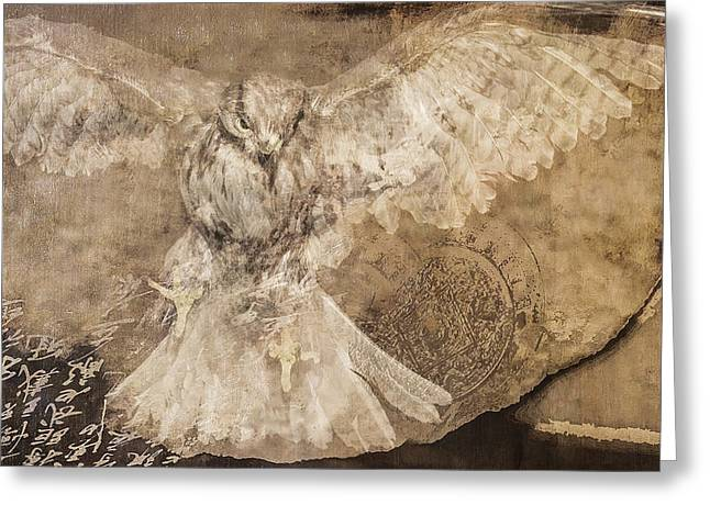 Birds Pyrography Greeting Cards - Conceptual Flight Greeting Card by Jeff Burgess