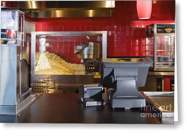 Movie Theatre Greeting Cards - Concession Stand Greeting Card by Andersen Ross
