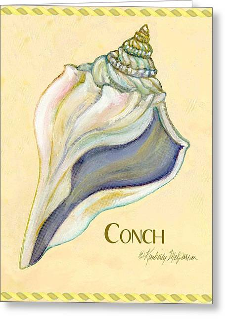 Labelled Greeting Cards - Conch Greeting Card by Kimberly McSparran
