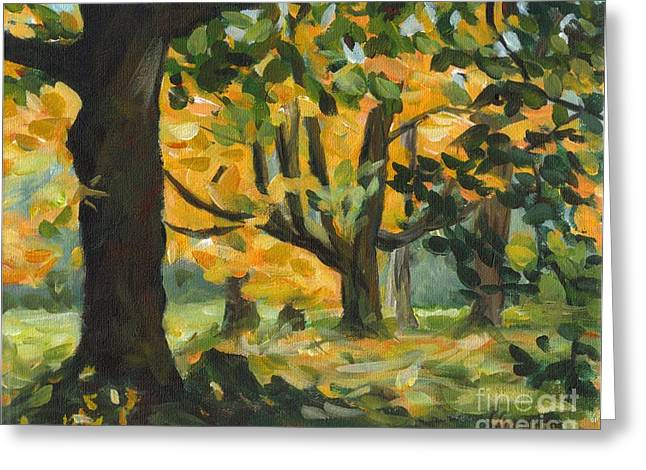 Concord Fall Trees Greeting Card by Claire Gagnon