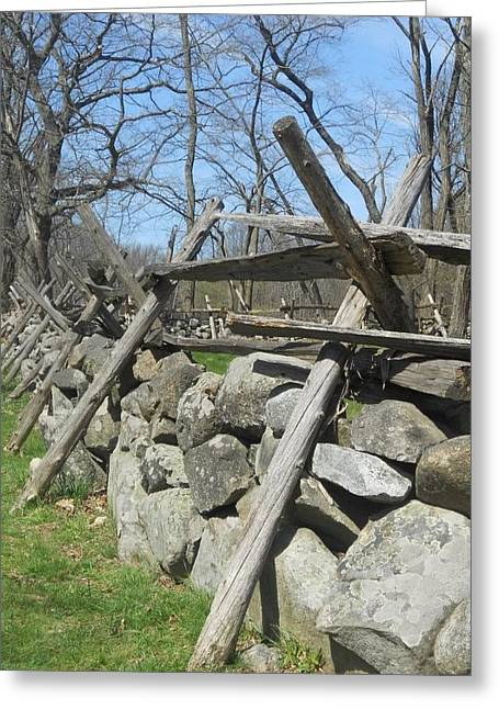 Concord Greeting Cards - Concord Fence Greeting Card by Deborah Smith