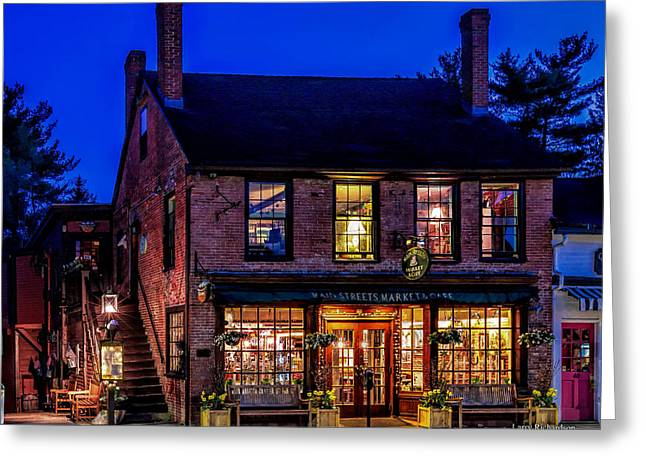 Concord Greeting Cards - Concord Market and Cafe Greeting Card by Larry  Richardson