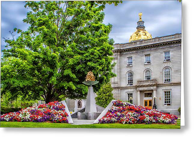 Concord Greeting Cards - Concord NH Law Enforcement Memorial Greeting Card by Larry  Richardson