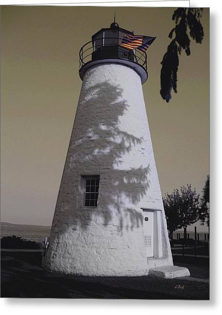 Concord Greeting Cards - Concord Point Light Greeting Card by Gordon Beck