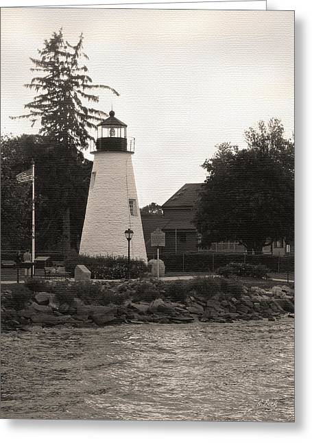 Concord Point Lighthouse Greeting Card by Gordon Beck