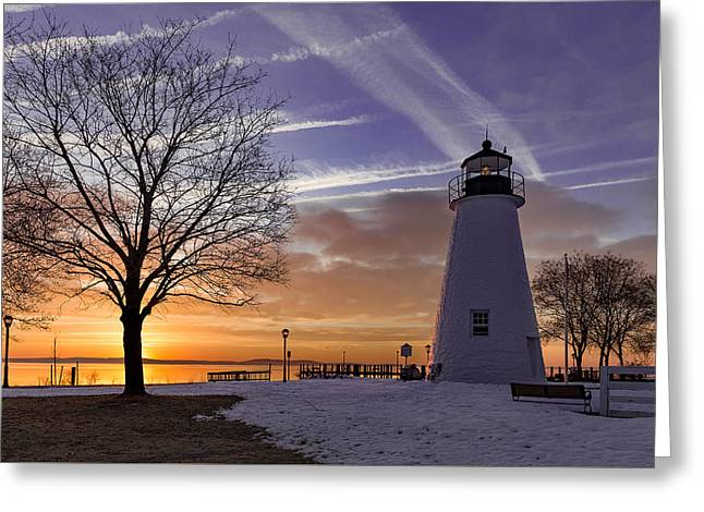 Concord Point Lighthouse Greeting Card by Jason Gambone
