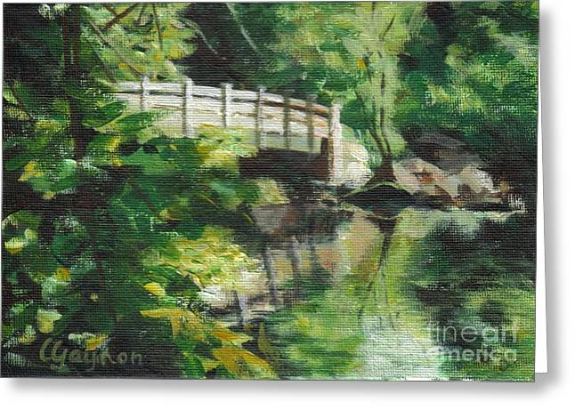 Concord River Bridge Greeting Card by Claire Gagnon