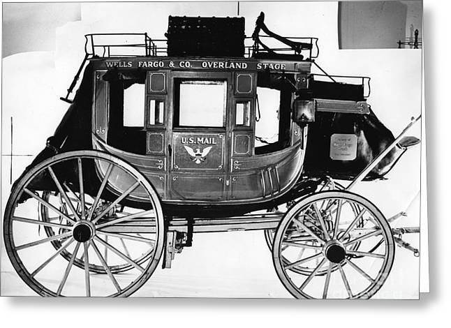 Concord Stagecoach Greeting Card by Photo Researchers, Inc.