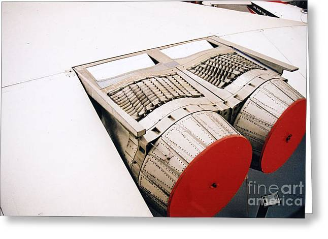 Concord Greeting Cards - Concord Wing and jet engines Greeting Card by R Muirhead Art