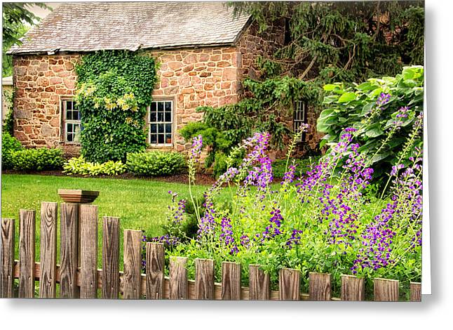 Outbuildings Greeting Cards - Conestoga Garden  Greeting Card by Carolyn Derstine