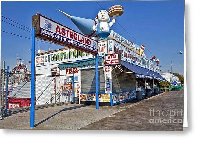 Hamburger Greeting Cards - Coney Island Memories 11 Greeting Card by Madeline Ellis