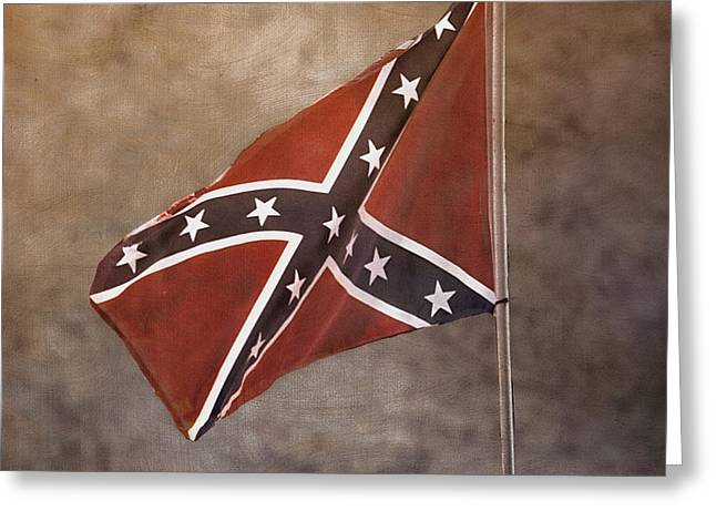 Recently Sold -  - Confederate Flag Greeting Cards - Confederate Battle Flag Greeting Card by TnBackroads Photography