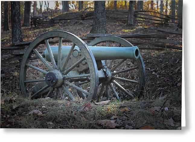 Civil War Battle Site Greeting Cards - Civil War Cannon Greeting Card by Scott Franklin