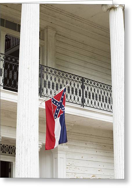 Confederate Flag Greeting Cards - Confederate Flag-102 Greeting Card by Dean Frick