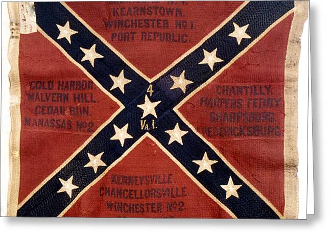 Gettysburg Greeting Cards - Confederate Flag, 1863 Greeting Card by Granger