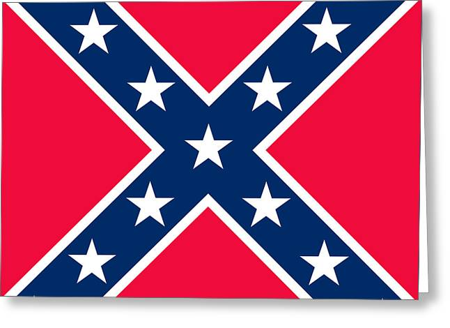 Red Cross Greeting Cards - Confederate Flag Greeting Card by American School